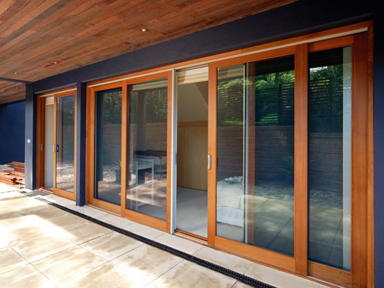 Timber sliding doors patio doors airlite for Long sliding glass doors