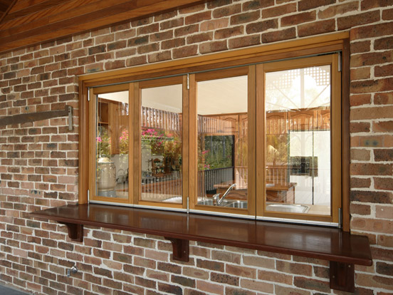 timber bi fold windows